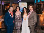 Escape to Margaritaville's Eric Petersen, Lisa Howard, Alison Luff and Paul Alexander Nolan enjoy their send-off soirée.