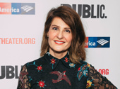 Nia Vardalos, who adapted and stars in Tiny Beautiful Things, shines on the red carpet.