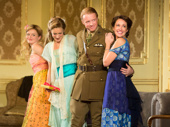 Anna Baryshnikov as Carol, Charlotte Perry as Kay, Matthew James Thomas as Robin and Anna Camp as Hazel in Time and the Conways.