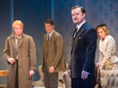 Matthew James Thomas as Robin, Gabriel Ebert as Alan, Steven Boyer as Ernest and Charlotte Perry as Kay in Time and the Conways.