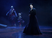 Richard Koons as Squelch, Katrina Kemp as Fleck and Karen Mason as Madame Giry in the national tour of Love Never Dies.