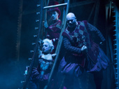 Richard Koons as Squelch, Katrina Kemp as Fleck and Stephen Petrovich as Gangle in the national tour of Love Never Dies.