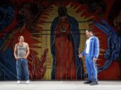 Juan Castano as Oedipus and Joel Perez as Creon in Oedipus El Rey.