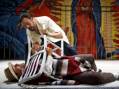 Reza Salazar and Juan Francisco Villa in Oedipus El Rey.