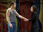 Juan Castano as Oedipus and Sandra Delgado as Jocasta in Oedipus El Rey.