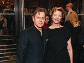 Tony nominee Mikhail Baryshnikov and Lisa Rinehart attend opening night of Time and the Conways.