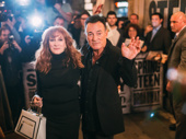 Bruce Springsteen takes in the opening night crowd with wife and fellow E Street band member Patti Scialfa.