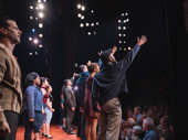 Bravo! The cast of A Bronx Tale takes their curtain call. Catch them in the streetwise musical at the Longacre Theatre!