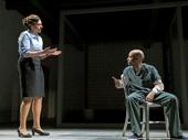 Stephanie DiMaggio as Mary Jane Hanrahan and Sean Carvajal as Angel Cruz in Jesus Hopped the A Train.