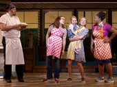 Ryan G. Dunkin & the cast of the national tour of Waitress, photo by Joan Marcus