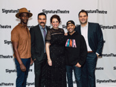 Jesus Hopped the A Train's Edi Gathegi, Ricardo Chavira, Stephanie DiMaggio, Sean Carvajal and Erick Betancourt are all smiles for their off-Broadway opening.