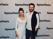 Theater couple Maggie Lacey and Bill Heck attend the off-Broadway opening of Jesus Hopped the A Train.