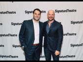 Jesus Hopped the A Train's Erick Betancourt receives an opening night visit from his Julius Caesar co-star Corey Stoll.