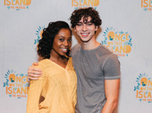 Once on This Island's Hailey Kilgore and Isaac Powell snap an adorable press day pic.