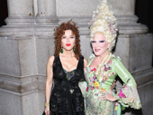It's so nice to have them back where they belong! Hello, Dolly!-bound star Bernadette Peters snaps a pic with Bette Midler.