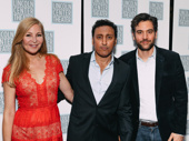 Ayad Akhtar's Disgraced pals Jennifer Westfeldt, Aasif Mandvi and Josh Radnor step out to support his latest Broadway play.