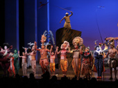 The cast of The Lion King takes in the crowd.(Photo: Walter McBride)
