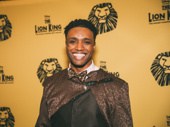 Mufasa is all smiles! The Lion King's L. Steven Taylor hits the red carpet.