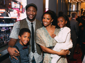 Former Simba Clifton Oliver reunites with his Nala, Tony winner Renée Elise Goldsberry. Goldsberry brought her children Benjamin and Brielle to the performance.