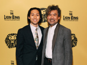 M. Butterfly star Jin Ha and scribe David Henry Hwang celebrate The Lion King's 20th anniversary.