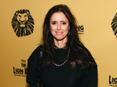 The Lion King's Tony-winning director Julie Taymor steps out.