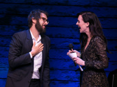 Josh Groban and Lena Hall share a laugh onstage.(Photo: Alan Perlman for OMB)