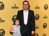 Broadway.com's Matt Kupchin and his daughter Skye before the big performance.
