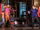 Billy Porter as Lola and Stark Sands as Charlie in Kinky Boots.