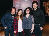 Co-creator Jordan Ross, choreographer Jennifer Weber, co-creator Lindsey Rosin and music supervisor Zach Spound