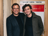 Director Michael Greif attends the show with his son David.