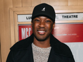 Tony nominee Corey Hawkins spends the evening at the theater.