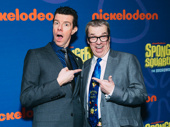 SpongeBob SquarePants' Gavin Lee and voice actor Rodger Bumbass, who provides the voice of Squidward in the cartoon
