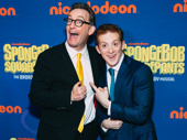 SpongeBob SquarePants voice actor Tom Kenny and his stage counterpart Ethan Slater.