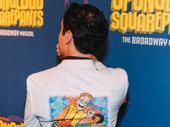 We spy SpongeBob SquarePants' Squigs! How cool is the back of choreographer Christopher Gattelli's jacket?