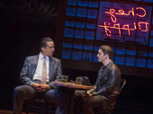 Nick Cordero as Sonny and Adam Kaplan as Calogero in A Bronx Tale.