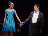 Christiani Pitts as Jane and Adam Kaplan as Calogero in A Bronx Tale.