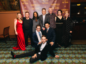 The company of Farinelli and the King gathers for a group shot: Margot White, Colin Hurley, Huss Garbiya, Lucas Hall, Edward Peel, Melody Grove, scribe Claire Van Kampen, Mark Rylance, Sam Crane and Iestyn Davies.