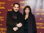 The Band's Visit's Tony Shalhoub and his wife and fellow performer Brooke Adams spend date night at a Broadway opening.