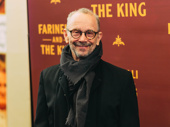 Broadway legend Joel Grey attends opening night of Farinelli and the King.