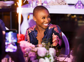 Sparks for this sparkling Tony winner! Cynthia Erivo is all smiles for birthday cake.