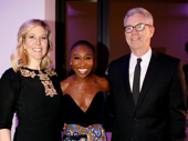 Cynthia Erivo gets together with John Gore Organization's COO Lauren Reid and Co-CEO of Interactive  Jerome Kane.