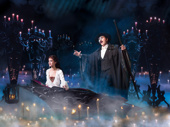 Ali Ewoldt as Christine and Peter Jöback as The Phantom in The Phantom of the Opera.