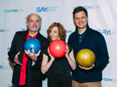 Stage and screen alums Frank Wood, Maddie Corman and Michael Oberholtzer are ready to bowl!