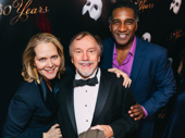 Phantom alums Rebecca Luker, George Lee Andrews and Norm Lewis huddle together for the camera.