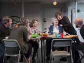 Richard Thomas, Pamela Reed, Daisy Eagan, Therese Plaehn, Lauren Klein & Luis Vega in The Humans tour.