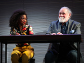 Pascale Armand as Msemaji Ukweli and Richard Masur as David in Relevance.