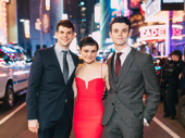 Hello, Dolly!'s Will Burton, Melanie Moore and Charlie Stemp head to the after party at Sardi's.