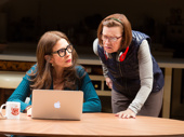 Jessica Hecht as Sherri Rosen-Mason and Ann McDonough as Roberta in Admissions.
