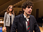 Jessica Hecht as Sherri Rosen-Mason and Ben Edelman as Charlie Luther Mason in Admissions.