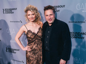 Travesties-bound star Scarlett Strallen and director Patrick Marber step out.
